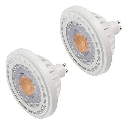MENGS 2-er Pack GU10 LED ES111 Strahler Lampe 12W LED AR111 Spot Leuchtmittel Ersatz für 95W Halogenlampen 1200lm 120° Warmweiß 3000K AC 85-265V Aluminiummaterial