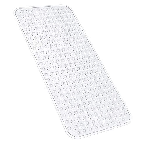 YINENN Bath Tub Shower Mat 35x15.5 Inch Non-Slip and Phthalate Latex Free,Bathtub Mat with Suction Cups,Machine Washable XL Size Bathroom Mats with...