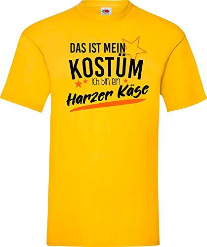 Shirtinstyle T-Shirt Das ist Mein Kostüm ich Bin EIN Harzer Käse Karneval Fasching Kostüm Verkleidung, gelb, XL