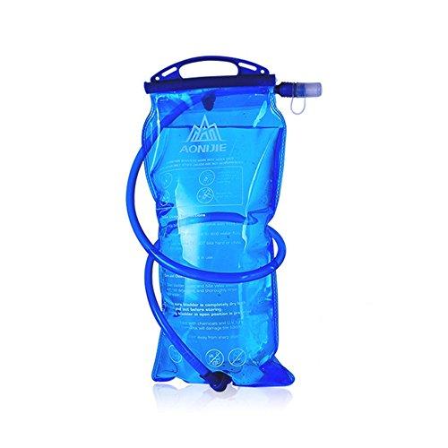 Poche à eau pour randonnée, camping, voyage, cyclisme, sports, course à pied, alpinisme, 1 L, 1,5 L, 2 L, 3 L, bleu