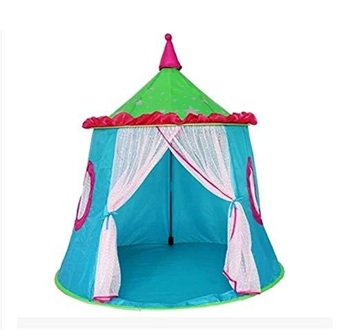Tiendas de campaña infantil para niños, para actividades de interior de jardín de infantes y niños, cuento para niños pequeños (color: azul, tamaño: 110 x 110 x 120 cm).