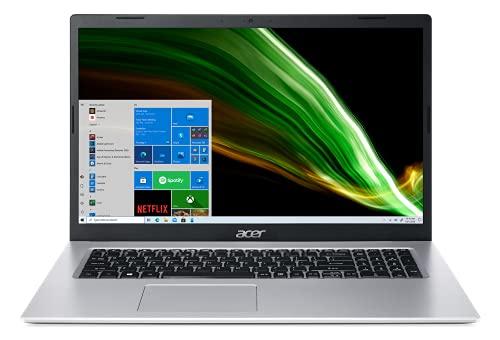 Acer Aspire 3 A317-53-34A6 Ordinateur Portable 17.3'' HD+, PC Portable (Intel Core i3-1115G4, RAM 8 Go, SSD 512 Go, Intel UHD Graphics, Windows 10) - Clavier AZERTY (Français), Laptop Gris
