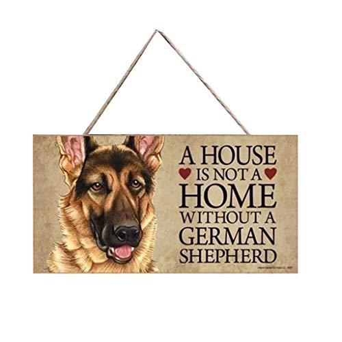 Janly Clearance Sale 11 etiquetas de perro rectangulares de madera para mascotas Accesorios para perros encantador animal de la amistad, decoración del hogar para el día de Pascua (A)