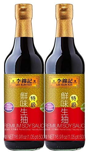 Lee Kum Kee Sojasauce, hell, premium, 2er Pack (2 x 500 ml)