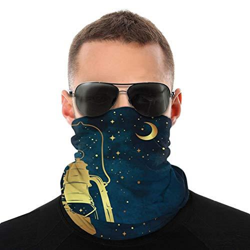 FULIYA Bufanda de cabeza variada, linterna de aceite mágico en cielo estrellado noche mística, bufanda multifuncional al aire libre para hombres y mujeres