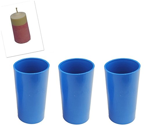 Proops Set x 3 Seamless Pillar Shaped Candle Moulds 4 1/2' Long 2' Dia Craft UK Made (S7588). Free UK Postage