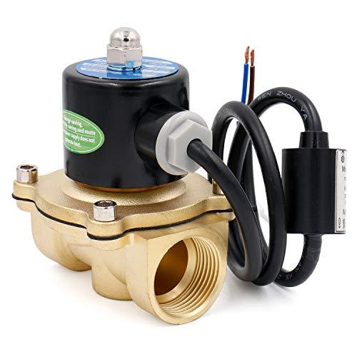 Heschen Válvula de solenoide eléctrica de latón 1 pulgada AC 220V Acción directa Válvula de repuesto de gas atmosférico de agua normalmente cerrada