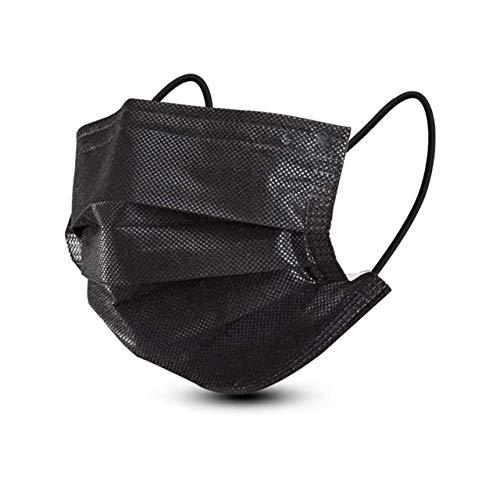 ANESTHESIA Medizinischen Mund-Nasenschutz schwarz Masken 50 Stk Mundschutz Masken mit CE EU Norm EN14683 Typ I