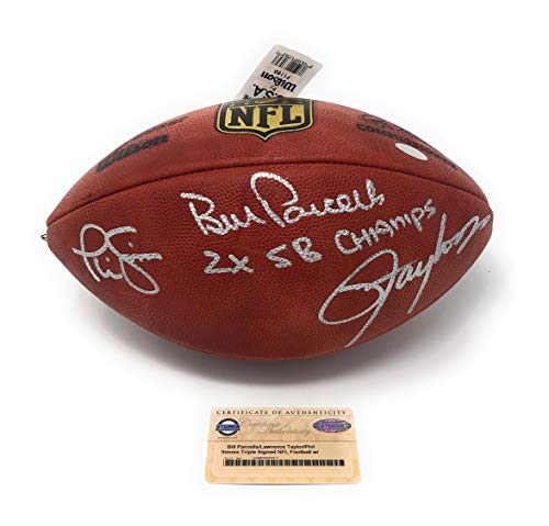 Phill Simms Lawrence Taylor Bill Parcells New York Giants Triple Signed Autograph Authentic NFL Football Steiner Sports Certified