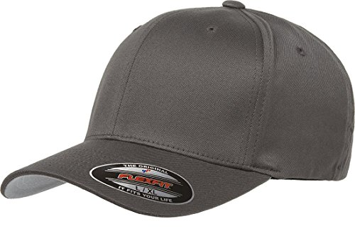Flexfit Men's Athletic Baseball Fitted Cap, Dark Gray, L/XL
