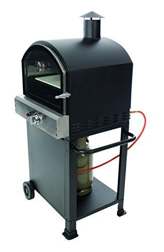 BBGrill Pizza Oven Gas Black FRESNO 1B, 80 x 68 x 143 cm
