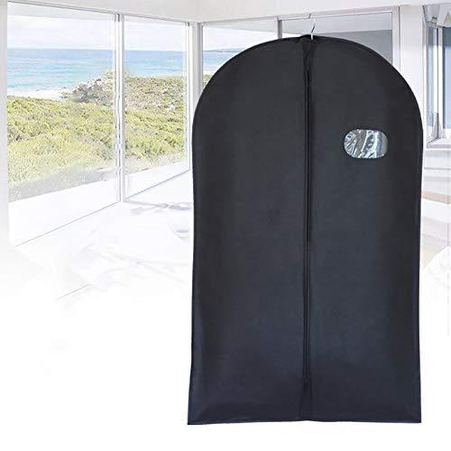 Kleidersack mit Reißverschluss, staubdicht, für Anzüge, Mäntel, Jacken, Kleider, schwarz