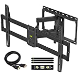 【Newest Version】 USX MOUNT Full Motion TV Wall Mount for Most 47-84 inch Flat Screen/LED/4K TVs, TV Mount Bracket Dual Swivel Articulating Tilt 6 Arms with Max VESA 600x400mm and Holds up to 132lbs