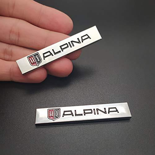 WXQYR 2 Piezas 3D Metal Alpina Emblema Tronco Pegatinas traseras Insignia Car-Styling para Alpina Logo E46 E39 E90 E60 E36 F30 X1 X3 X5 E53 F10 E34