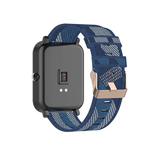 Tencloud Correa compatible con Garmin Venu Sq/Venu Correa de nailon de rayas ligeras, banda de repuesto para reloj inteligente Venu/Venu Sq/Venu Sq Music GPS
