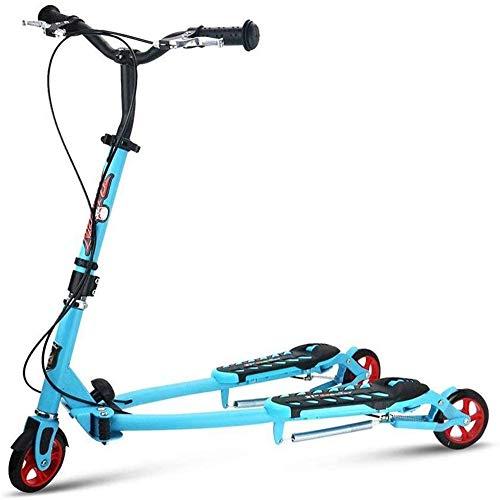 El Columpio Vespa Ajustable 3 Ruedas Plegable Wiggle Scooter Auto Deriva para los niños