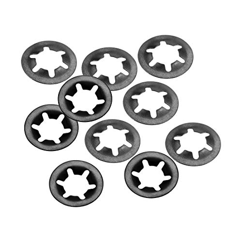 uxcell Internal Tooth Star Washers M10 x 20mm 65Mn Black Oxide Finish Push On Lock Washer Locking Clips Fastener 10pcs