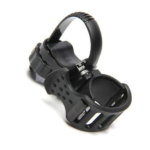 SODIAL(R) Soporte de Linterna Lampara Manillar Ligero Color Negro Bici