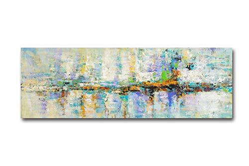 Sin Marco Cuadro En Lienzo Decoracion Turquesa Cuadros Abstractos Impresiones Sobre Lienzo, Lienzos Decorativos Adecuado Cuadros Dormitorios, Cuadros Decoracion Salon modernos 60x180cm