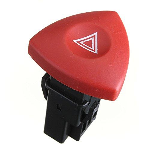 BaiShengJiang Botón de Interruptor de luz de Advertencia Intermitente de Peligro de Emergencia/Apto para -Renault Espace Laguna Master Trafic/Vauxhall Vivaro / 8200442724, 93856337