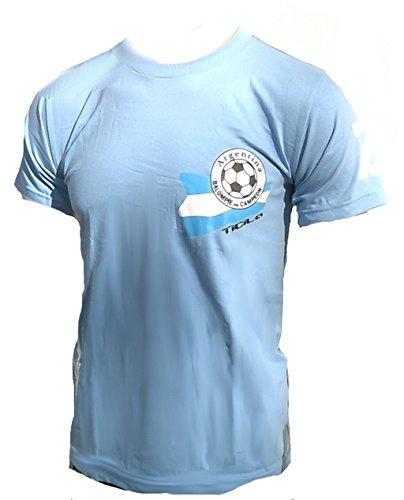 Ticila Herren T-shirt Tor reros la Argentina Argentina Argentinia Mondiali di Calcio EM Designer Fan Tee Maglia Blu chiaro Blau 58/60