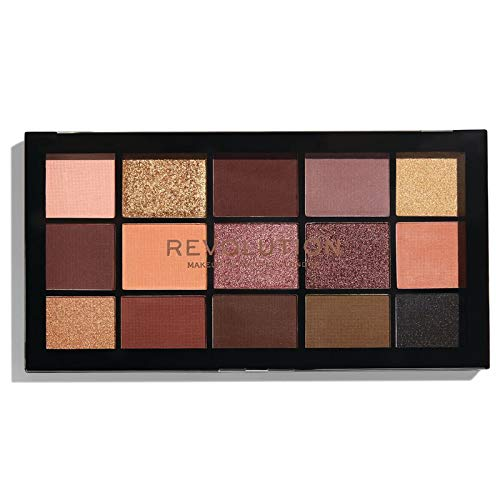 Makeup Revolution Eyeshadow Palette, Reloaded Velvet Rose, Face Make Up, Compact Eye Shadow Palette by Revolution Beauty