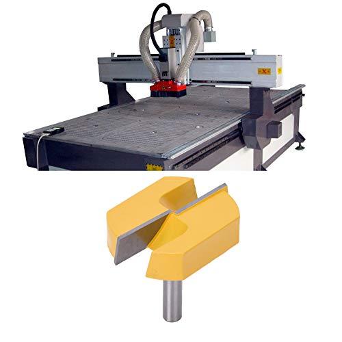Herramienta de carpintería, broca de enrutador de recorte, broca de enrutador de 8x57 mm, cortador de fresado para carpintería de cepillado de superficie inferior