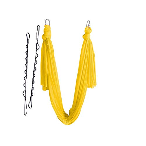Great Deal! Sky Happying Elastic 5 Meters Aerial Yoga Hammock Swing Multifunction Anti Gravity Yoga ...