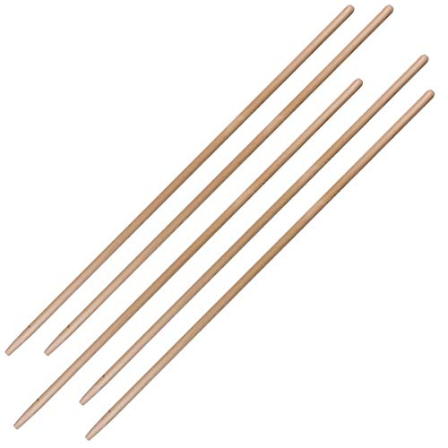 kagm 5er Set Gerätestiel Holzstiel Besenstiel Ersatzstiel 120 cm Ø 27 mm mit Konus