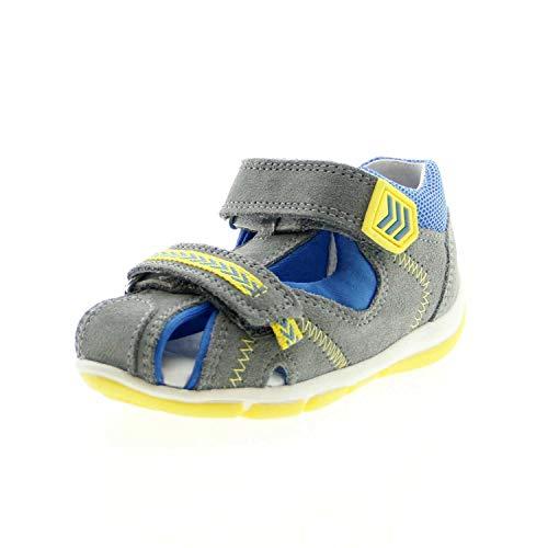 Superfit Baby Jungen FREDDY Sandalen, Grau (Hellgrau/Blau 25), 26 EU