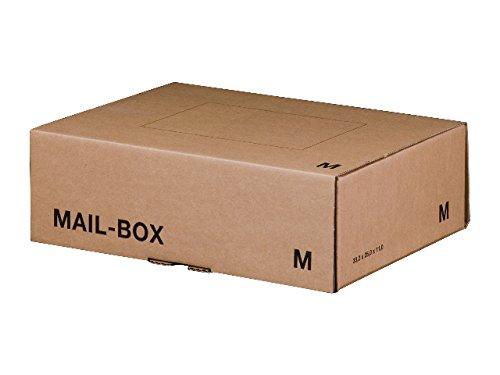 Papyrus 2035272 Versandkarton MAIL-Box M, 331x241x104 mm, braun, 20 Stück