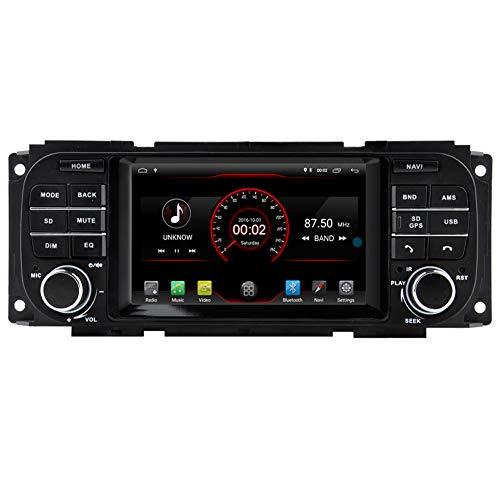 Autosion Android 8.1 autoradio GPS navi stereo Head Unit radio multimediale WiFi per Jeep Grand Cherokee 1999 2001/Durango (2002  2003)/Grand Cherokee 2002 2004/JEEP Liberty/Caravan