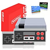Texas Deluxe 4 Buttons AV 620 Retro Game Console, Classic Video Game Console with 500 Unique Games, 2X 4-Button Controllers Handheld Games Mini Game Consoles for Kids & Adults
