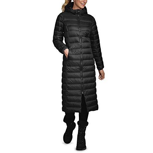 Eddie Bauer Women's CirrusLite Down Duffle Coat, Black Regular L