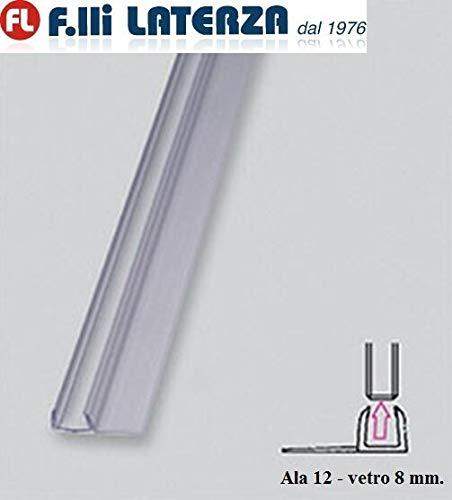 Afdichting voor douchecabine, kristalglas, 8 mm transparant profiel