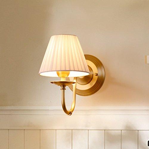 Lámpara de pared Luces de Pared Lámpara de cabecera de Dormitorio de Cobre Lámpara de Espejo de Estilo Europeo Sala de Estar Minimalista de una Sola Cabeza Propiedades de Metal Estable Durable