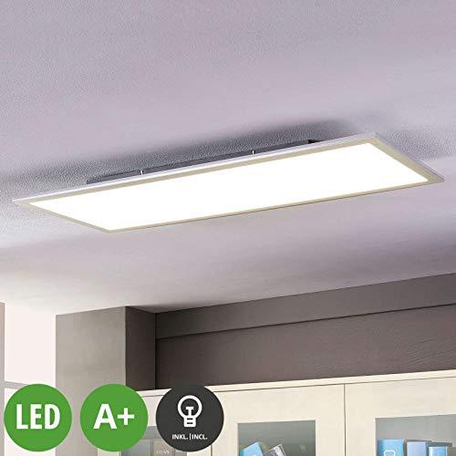 Lampenwelt LED Deckenleuchte (LED Panel) \'Livel\' (Modern) in Weiß u.a. für Küche (1 flammig, A+, inkl. Leuchtmittel) - Lampe, LED-Deckenlampe, Deckenlampe, Küchenleuchte
