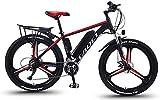 Bicicleta Eléctrica Plegable Bicicleta eléctrica de nieve, 26 '' Bicicleta de montaña eléctrica con batería de iones de litio de gran capacidad extraíble (36V 350W 8AH) Frenos de disco dual para cicli