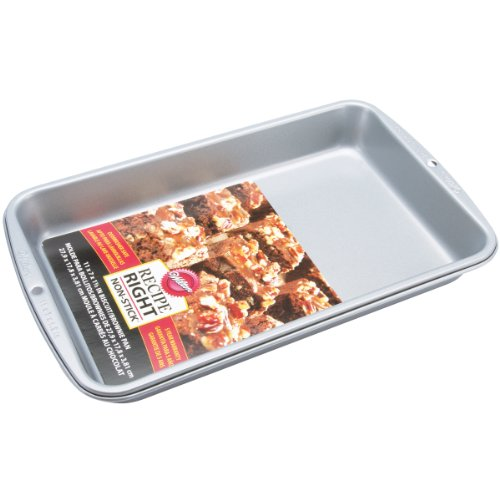 """Wilton Recipe Right Non-Stick In Biscuit Brownie Pan, 11"""" x 7"""" x 1-1/2"""""""