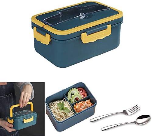 Guizu Fiambreras bento, Bento Box para niños, Lonchera a Prueba de Fugas Lunch Box Set + Tenedor y Cuchara, para el Trabajo, Escuela, Viajes (1000ML)