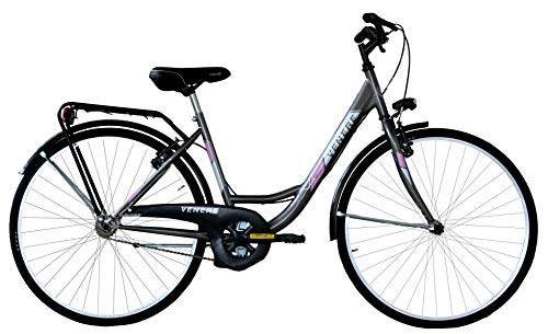Frejus 26, City Bike Unisex Adulto, Grigio, M