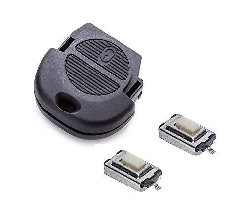 Kit de reparación para aficionados, llave de mando a distancia de 2 botones con sistema NATS de Nissan
