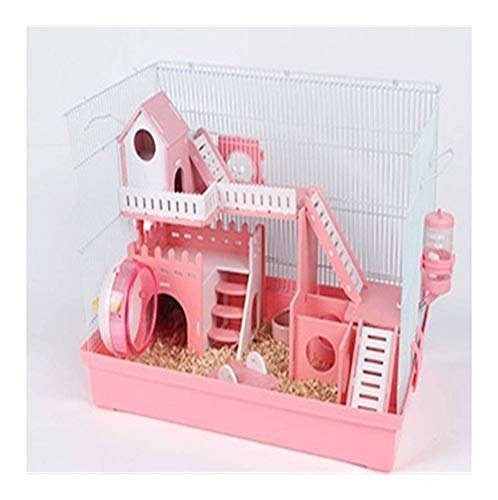 Fang-hats shop, Multifunktions- Harajuku Hamsterkäfig Hamsterkäfig Supplies Foundation Cage Acryl Hamster Nest Villa, Dauerhaft (Color : A)