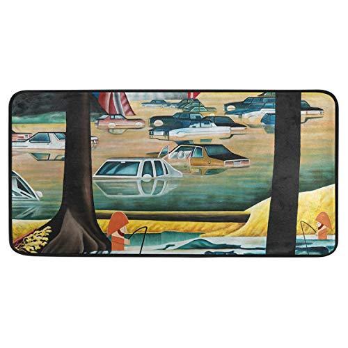 MALPLENA Carpet Artistic Colored Fictional Landscape Area Rug Non-Slip Floor Mat Doormats for Patio or Family Room 39 x 20 in