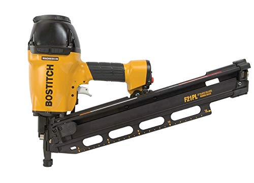 BOSTITCH F21PL Round Head 1-1/2-Inch to 3-1/2-Inch Framing Nailer with Positive Placement Tip and Magnesium Housing (Renewed)