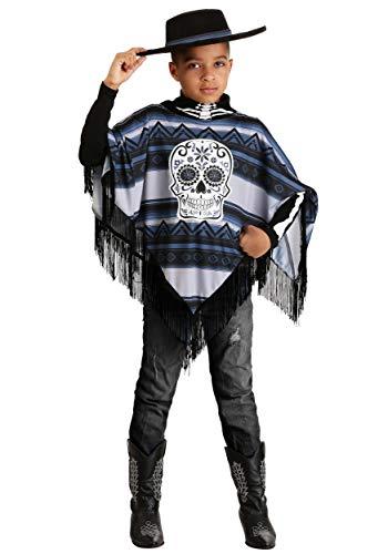 Day of the Dead Poncho Costume Boys Medium