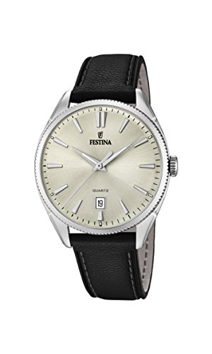 Festina Herren Analog Automatik Uhr mit Leder Armband F16977/3