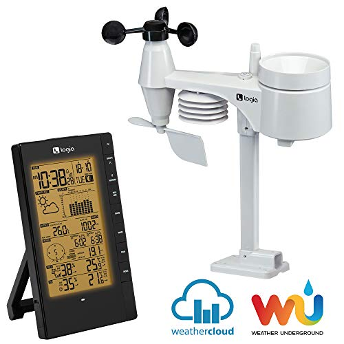 Logia 5-in-1 Indoor/Outdoor Weather Station Remote Monitoring System w/PC Connect
