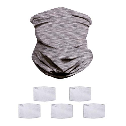 HAO HONG 1PC Summer Cooling Kids Face Scarf Mask-Dust Bandana Neck Gaiter Multifunction Headband Balaclava with 5 pcs Filters Outdoors Dustproof Lightweight (Color 31, Kid)