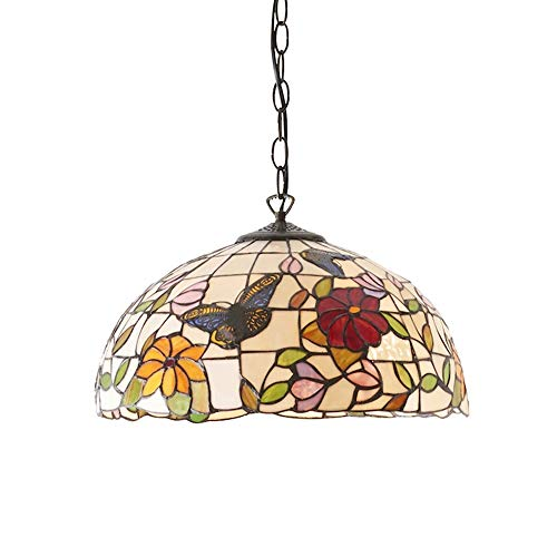 lampadario a sospensione fiori HAUSELIEBE 12 Pollici Tiffany Stile Lampadari